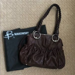 B Makowsky Leather Shoulder Bag